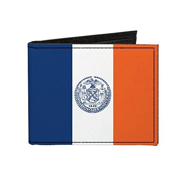 Buckle-Down Canvas Bi-fold Wallet - New York Flag Accessory