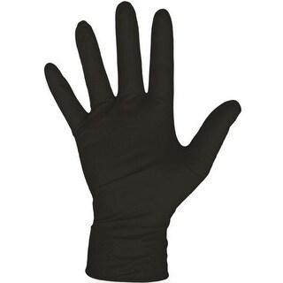 Boss 1UH0006BM Disposable Nitrile Gloves, Black, Medium