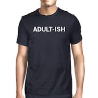 365 Printing Adult-ish Men Navy T-shirts Cute Graphic Printed Short Sleeve Shirt - Navy blue - size