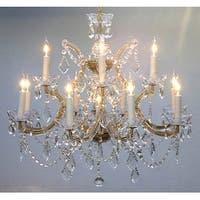 Swarovski Crystal Trimmed Chandelier Lighting H22 x W28