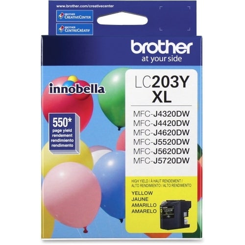 """""""Brother LC203Y Brother Innobella LC203Y Ink Cartridge - Yellow - Inkjet - High Yield - 550 Page - 1 Each"""""""