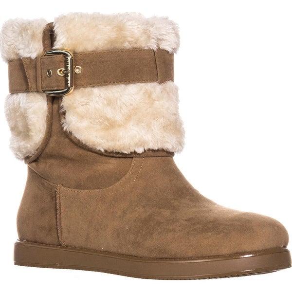 Guess Amburr Mid Calf Lined Boots, Medium Brown