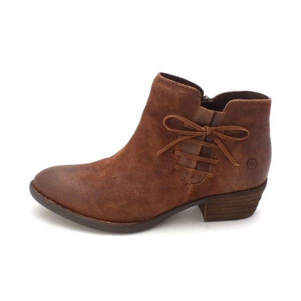 Born Womens bowlen Suede Almond Toe Ankle Fashion Boots - 8