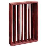 3 Section Folding Wooden Pet Child Gate - brown - 52.88 in. x 25 in.