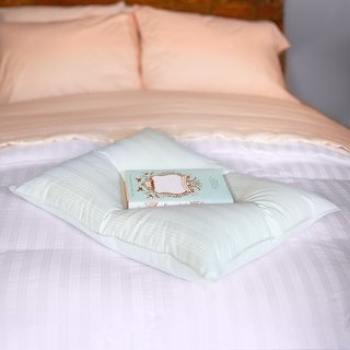 Link to Extra Soft Cotton Damask Down Alternative Stomach Sleeper Pillow - Blue Similar Items in Pillows