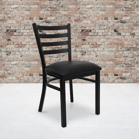 "Ladder-back Metal Restaurant Chair - 16.5""W x 17""D x 32.25""H"