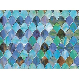 "Brewster PF0718  Peacock Premium 35.25"" x 78"" Door Size Animal Print Static Cling Vinyl Window Film"