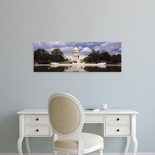 Easy Art Prints Panoramic Images's 'Government building on the waterfront, Capitol Building, Washington DC' Canvas Art