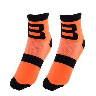 R-BAO Authorized Bicycle Football Cotton Blend Sports Cycling Socks Orange Pair