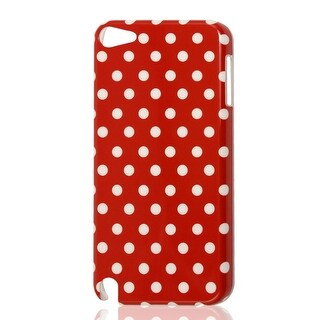 Dots IMD Case Cover Bumper Red for Apple iPod Touch 5 5G