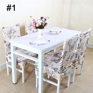 Unique Bargains Washable Stretch Dining Chair Cover