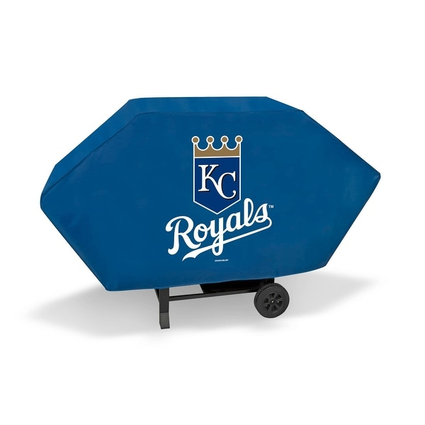"""68"""" x 35"""" White and Blue MLB Kansas City Royals Executive Grill Cover - N/A"""