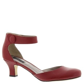 ARRAY Womens Charlie Leather Closed Toe Ankle Strap D-orsay Pumps