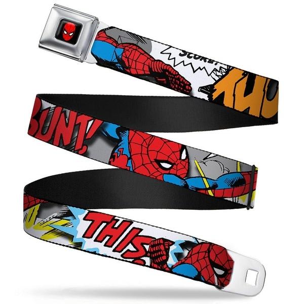 Marvel Comics Spider Man Full Color Spider Man W Action Verbiage Webbing Seatbelt Belt