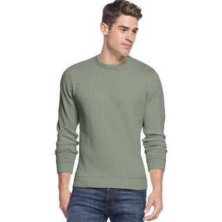 Club Room Cotton Tipped Crewneck Sweater Gypsy Green Heather Large L