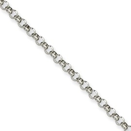 Chisel Stainless Steel 4.60mm 36 Inch Rolo Chain (4.6 mm) - 36 in