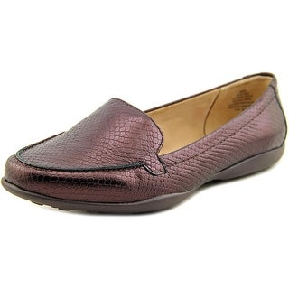 Easy Spirit e360 Jeyden Women WW Moc Toe Leather Brown Loafer