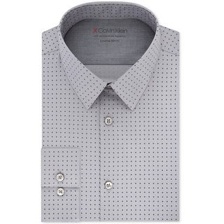 Calvin Klein Mens X Temperature Regulation Button Up Dress Shirt
