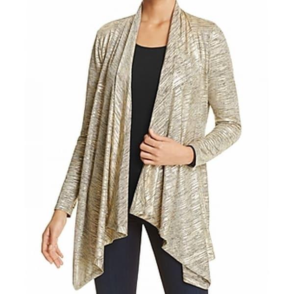 Calvin Klein NEW Gold Womens Size XL Flyaway Shimmer Metallic ...