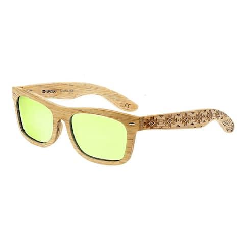 Earth Wood Maya Unisex Wood Sunglasses - 100% UVA/UVB Prorection - Polarized/Mirrored Lens - Multi