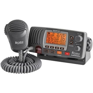 Marine Fixed Mount VHF Radio with Built-in GPS Receiver - Black