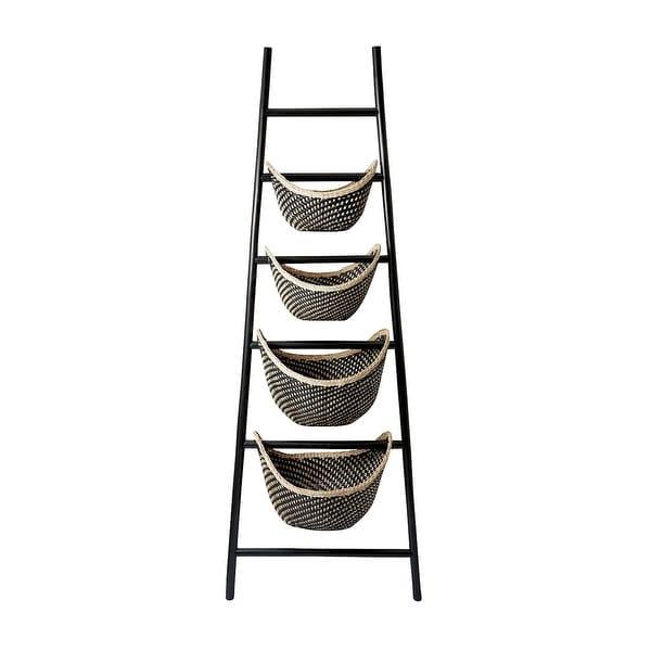 Elk Home 797001 Black Plaid Ladder Basket