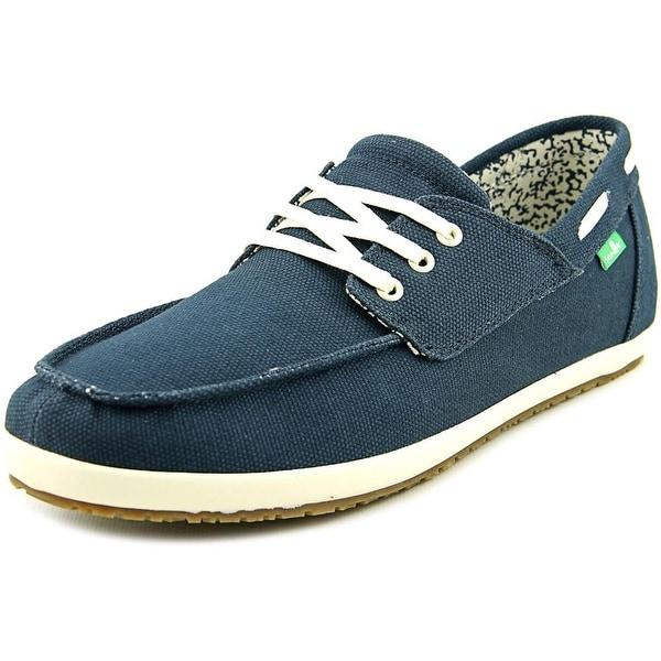 Sanuk Casa Barco Men  Moc Toe Canvas Blue Boat Shoe