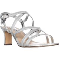 Nina Genaya Strappy Heeled Dress Sandals, Silver Reflection