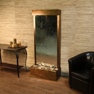 Adagio Harmony River Fountain - Flush Mount - Rustic Copper - Choose Options (Option: Silver Mirror - Glass - Copper)