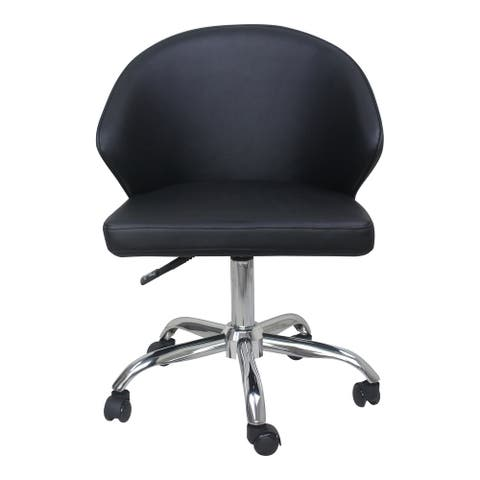 Aurelle Home High Back Faux Leather Swivel Office Chair