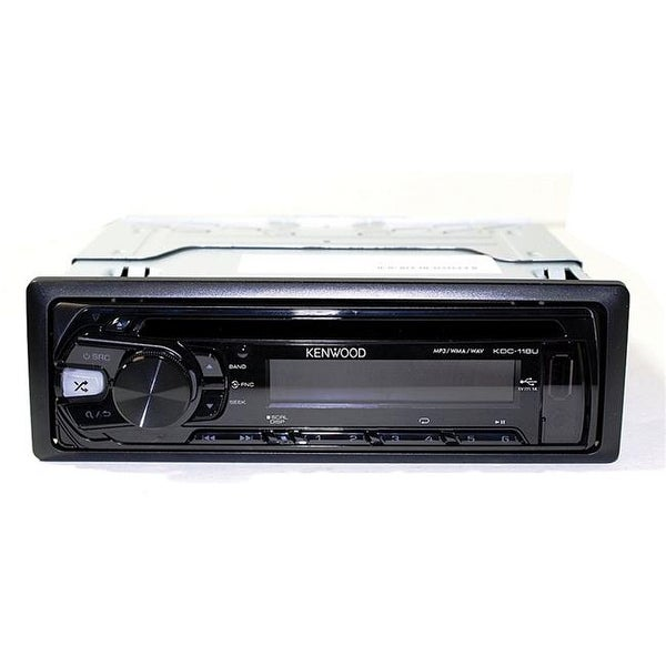 Kenwoo KDC118 Single Din Car Stereo Receiver with USB & AUX Input