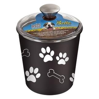 Loving Pets 7481 Bella Dog Bowl Canister, Espresso