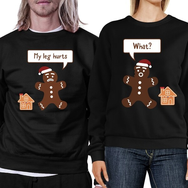 acad81cc66e08 Shop Christmas Gingerbread Couple Sweatshirts Holiday Matching Tops ...