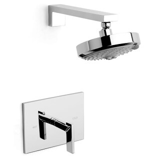Newport Brass 3-2544BP Metro Single Handle Shower Trim with Shower Head and a Metal Lever Handle