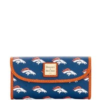 Dooney & Bourke NFL Denver Broncos Continental Clutch Wallet (Introduced by Dooney & Bourke at $128 in Aug 2016)