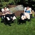 Sunnydaze Beige Oversized Zero Gravity Lounge Chair, Set of 2 - Thumbnail 6