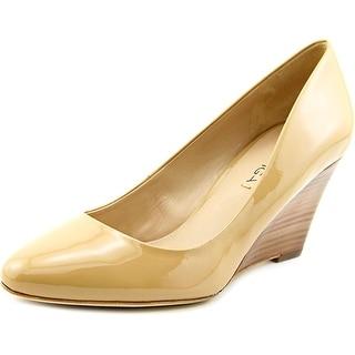 Via Spiga Pamina Women Open Toe Patent Leather Wedge Heel