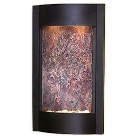 Adagio SWA1714 Serene Waters - Rajah Featherstone Wall Fountain - Textured Black Finish