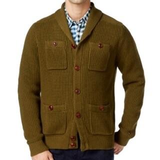 Tommy Hilfiger NEW Green Mens XL Shawl-Collar Button Cardigan Sweater