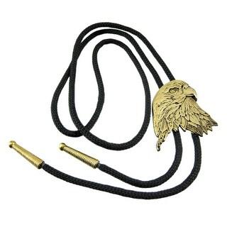 Cool Western Brass Eagle Head Bolo Tie