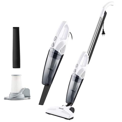 HoLife Lightweight Stick Vacuum 2 in 1 Handheld Upright Corded Vacuum Cleaner with 15KPA Powerful