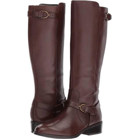 LAUREN by Ralph Lauren Womens Margarite Almond Toe Mid-Calf Fashion Boots