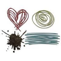 Scribbles & Splat - Sizzix Thinlits Dies 4/Pkg By Tim Holtz