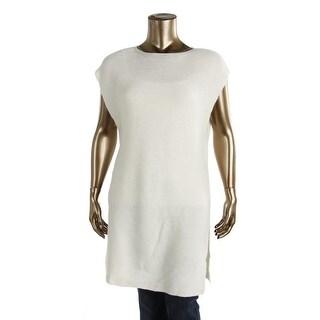 Studio M Womens Josette Wool Blend Side Slit Pullover Sweater