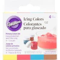 Icing Colors .5oz 4/Pkg-Primary