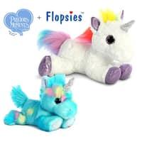 "Aurora Bright Fancies Blueberryripple Unicorn 7"" and 12"" Flopsie Rainbow Unicorn High Quality Plush (2 Items Included)"