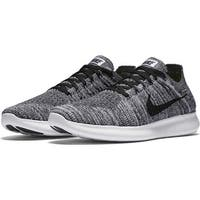 Nike Womens Free RN Flyknit Low Top Lace Up Running Sneaker
