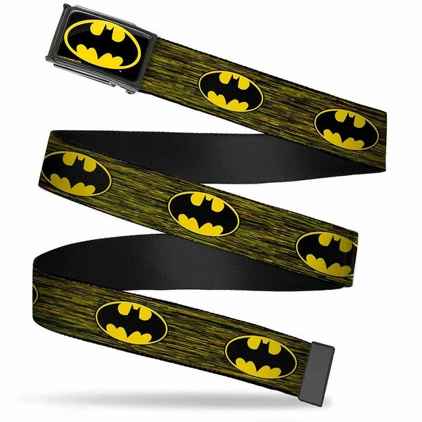 Batman Fcg Black Yellow Black Frame Batman Shield Digital Camo Web Belt