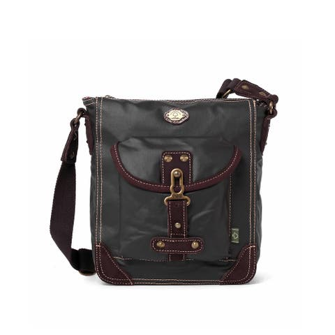 TSD Brand Sprout Canvas Crossbody Bag