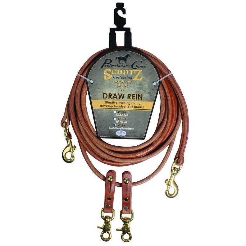 Schutz Reins Round Draw Leather Bronze Hardware Heavy 16 Brown - 16